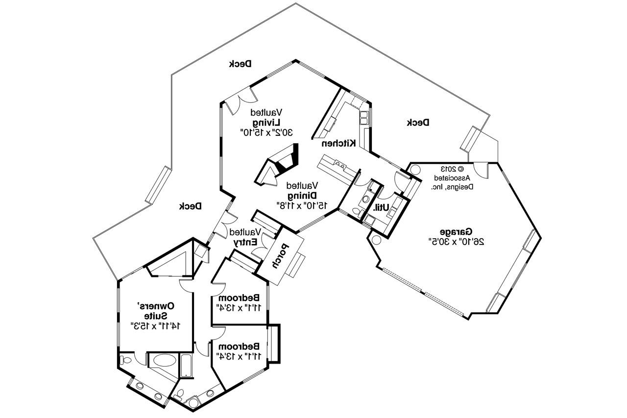 Contemporary house plans encino 10 016 associated designs for Different floor plans for homes