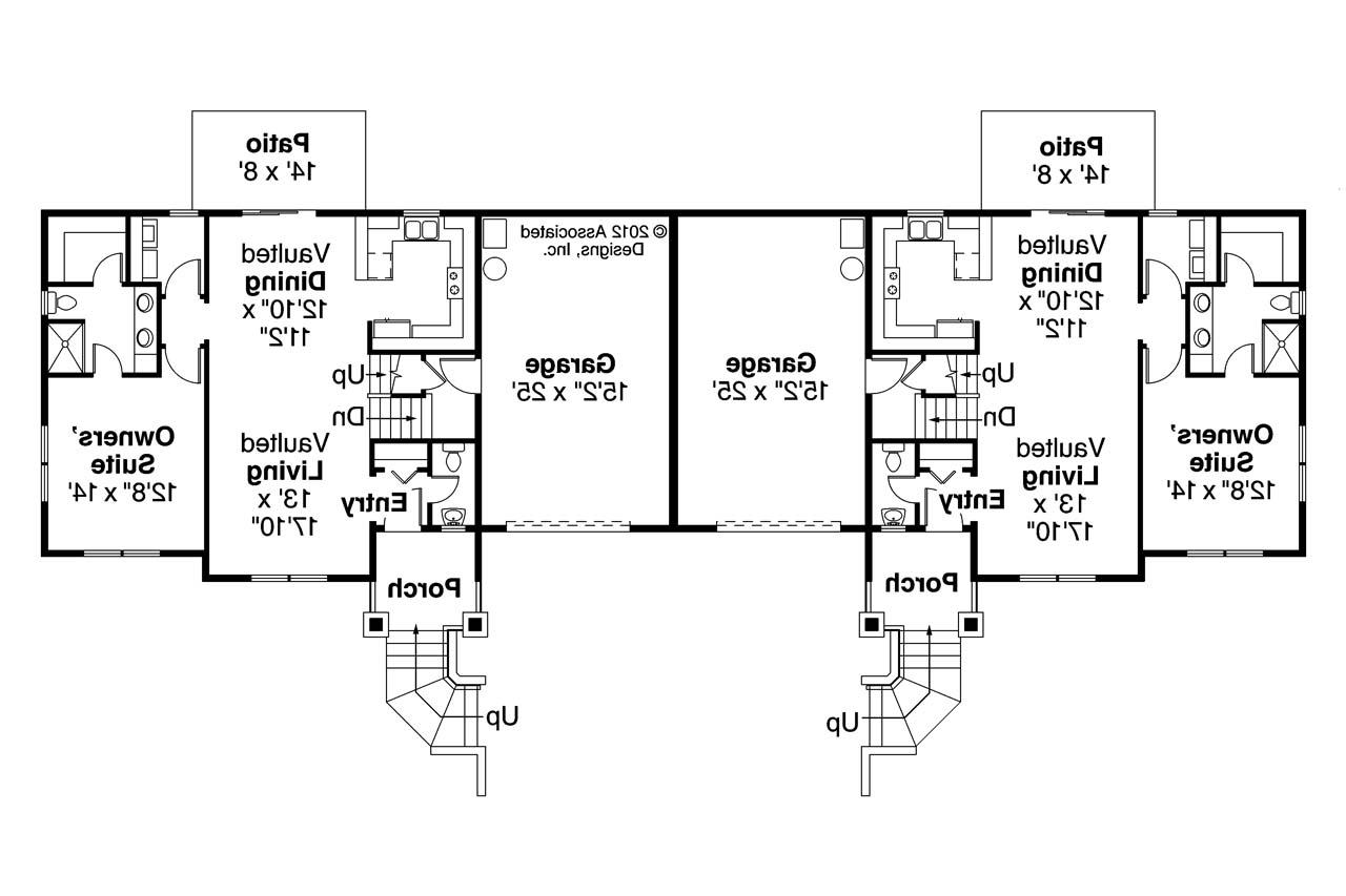 Front To Back Split House Craftsman House Plans Lincolnshire 60 032 Associated