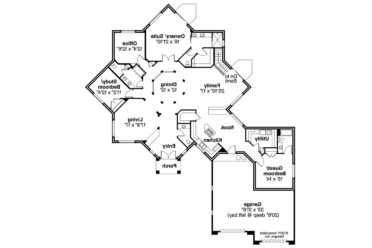 Mediterranean house plans flora vista 10 546 - Mediterranean house floor plan and design ...
