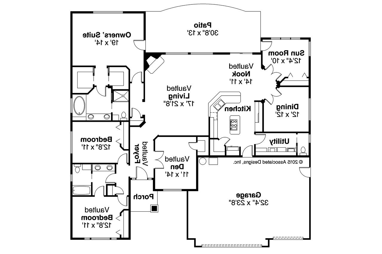 Double Floor House Elevation Models : Ranch house plans ryland associated designs