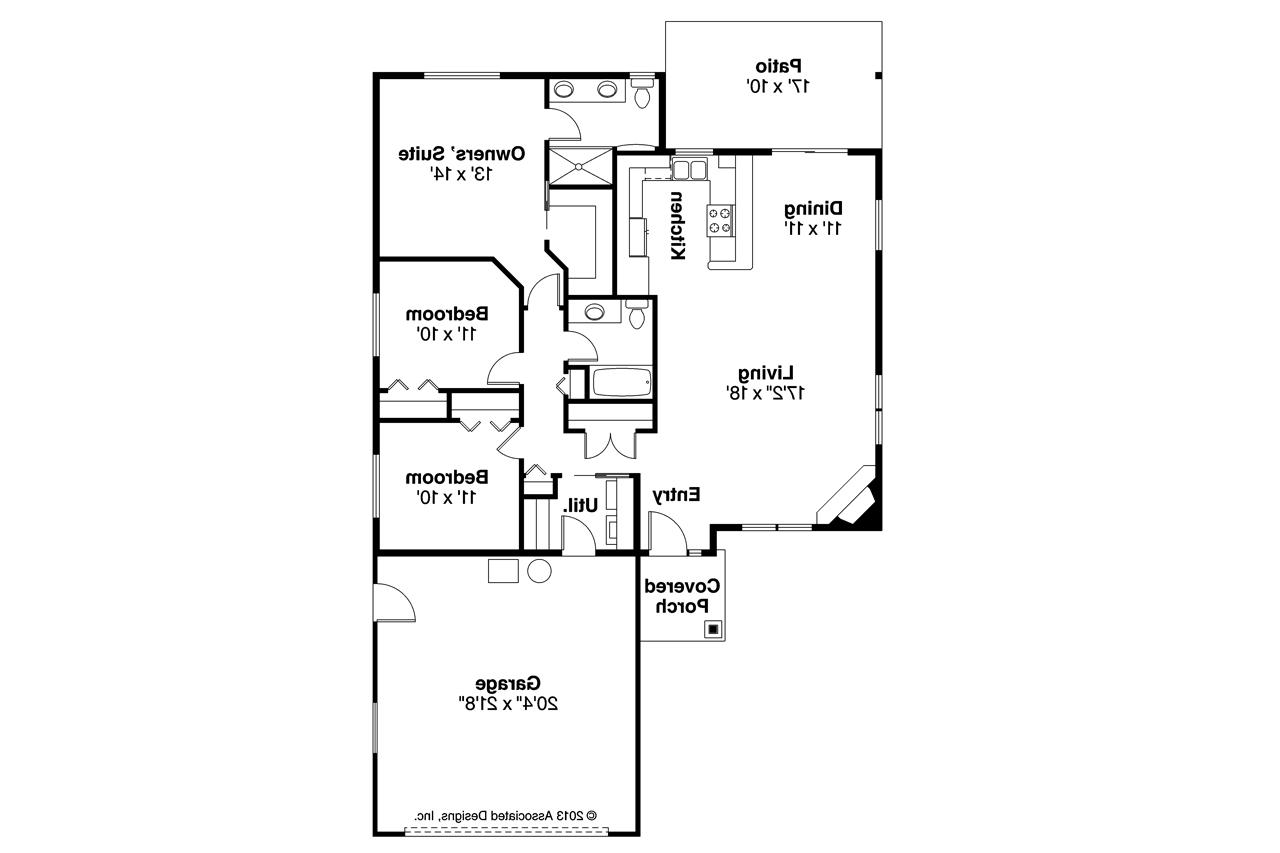 Open Kitchen Floor Plans Designs Traditional House Plans Alden 30 904 Associated Designs