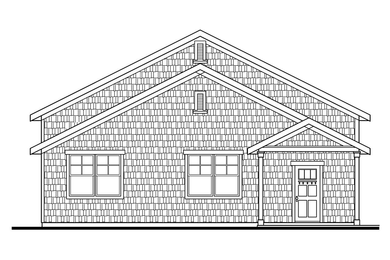 Plan And Elevation Of Car : Craftsman house plans rv garage w living