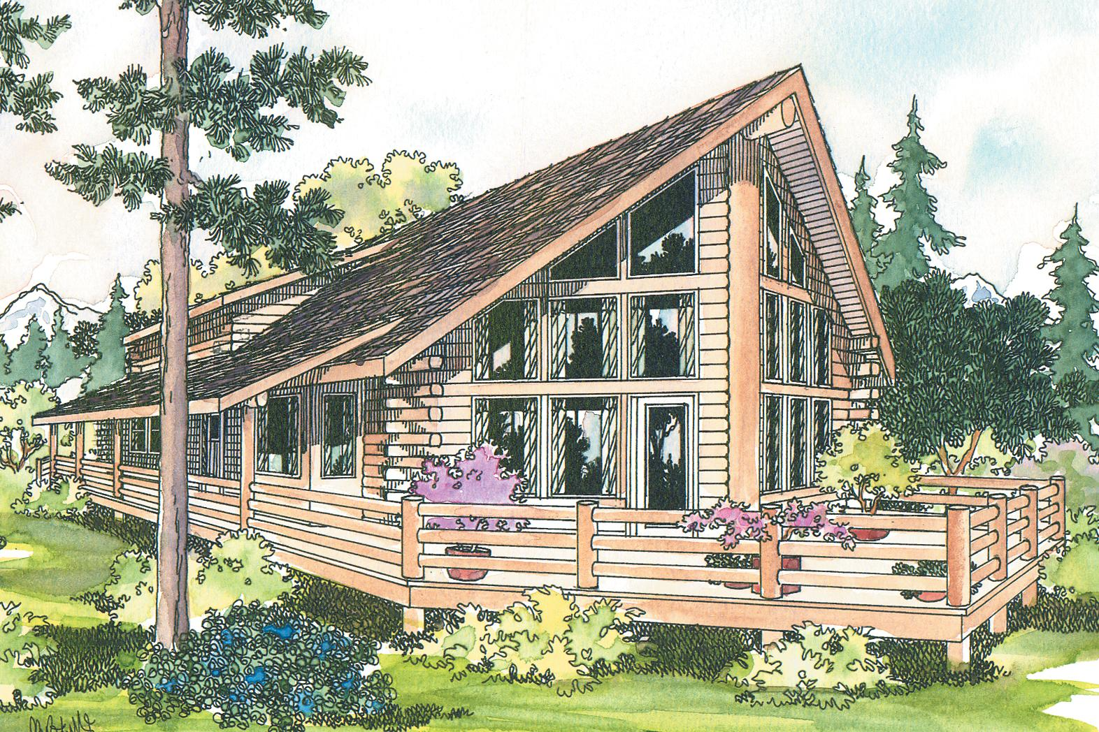 Vacation Cabin Plans A Frame House Plans Eagleton 30 020 Associated Designs