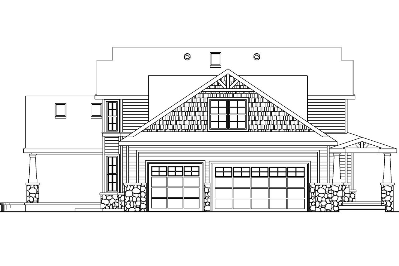 Floor Plan Elevation Bungalow House : Craftsman house plans tillamook associated designs