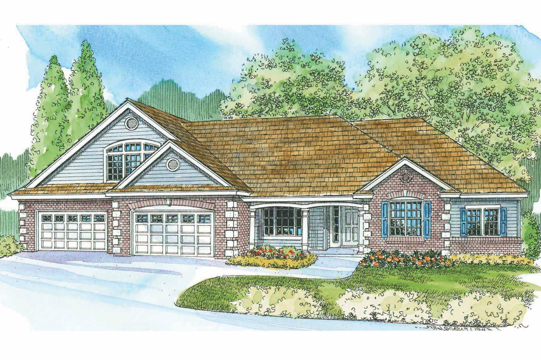 Front Elevation Classic : Classic house plans wellesley associated designs