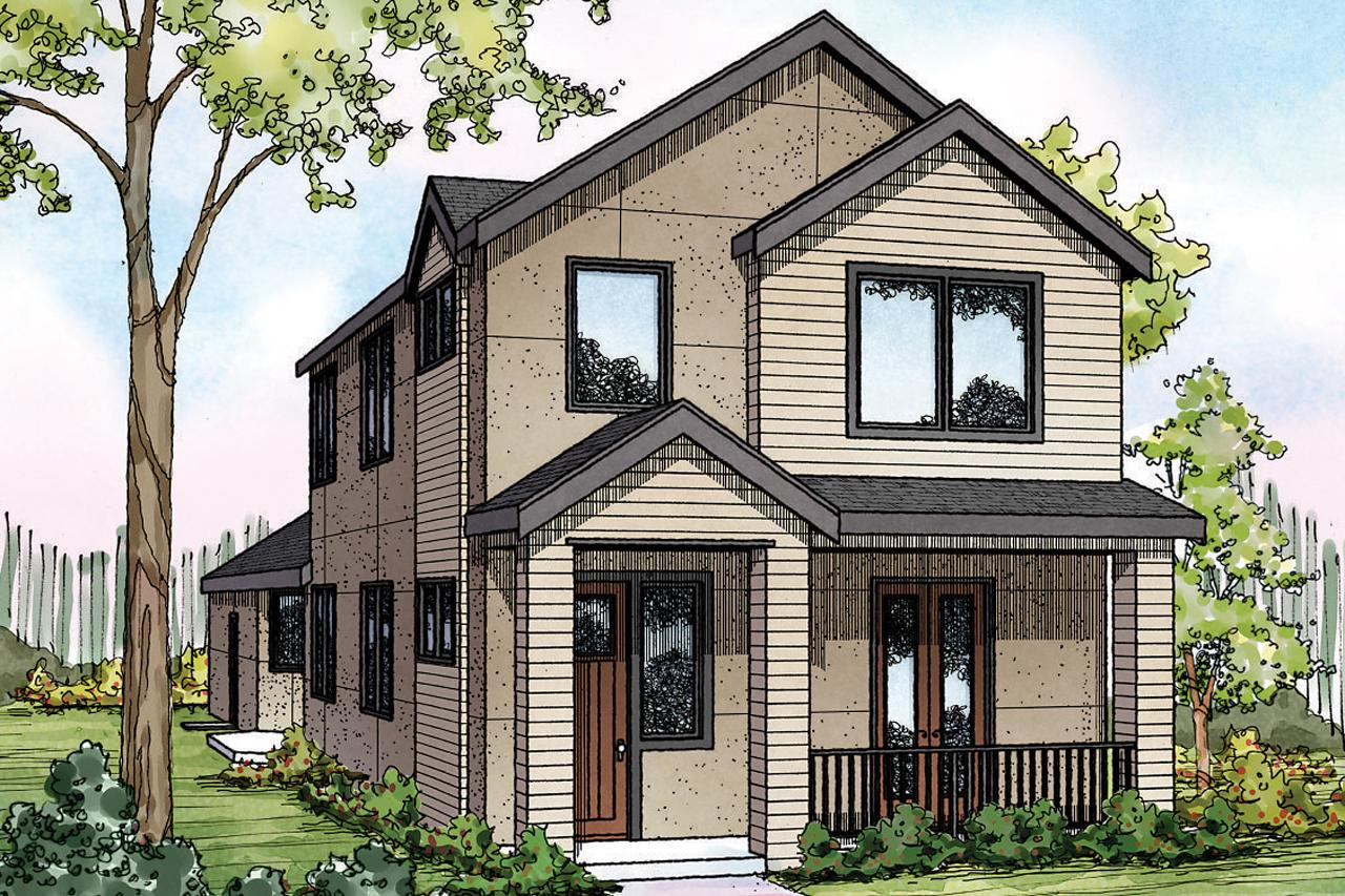 Front Elevation Mirror : Contemporary house plans eastlake associated