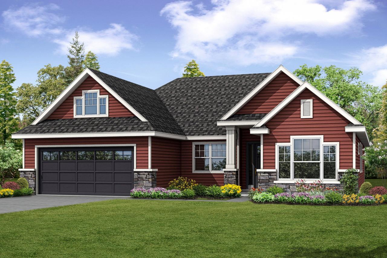 country house plan barrington 31 058 front - View Small House Design Country  Background