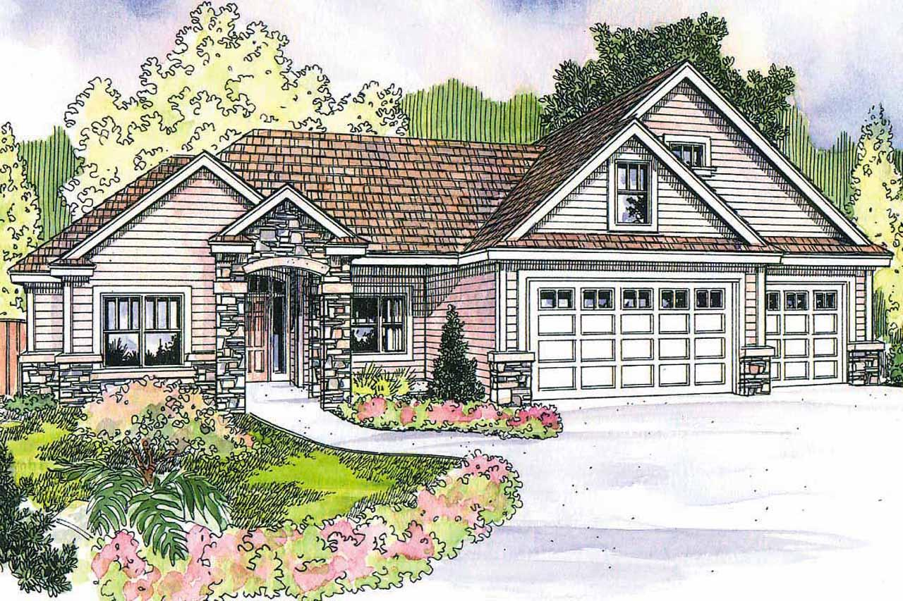 Front Elevation Mirror : Craftsman house plans elkheart associated designs
