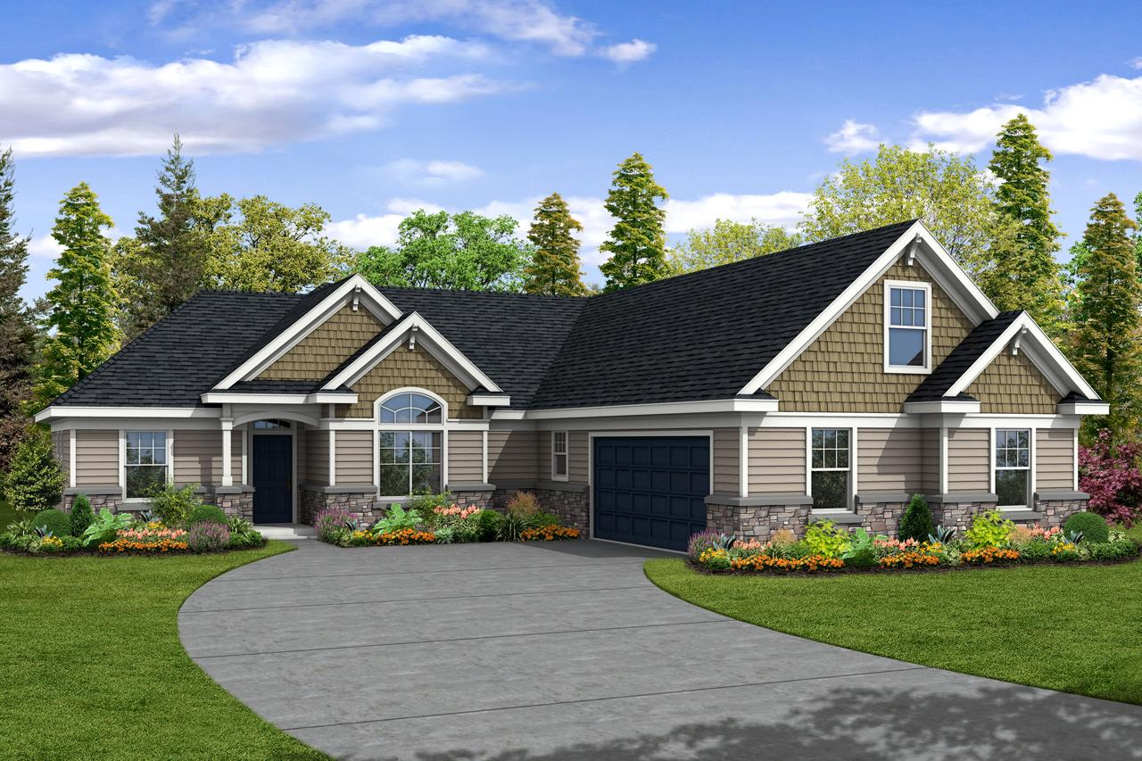 craftsman house plan ellington 30 242 front 0 - View Home Front Design Small House  Gif