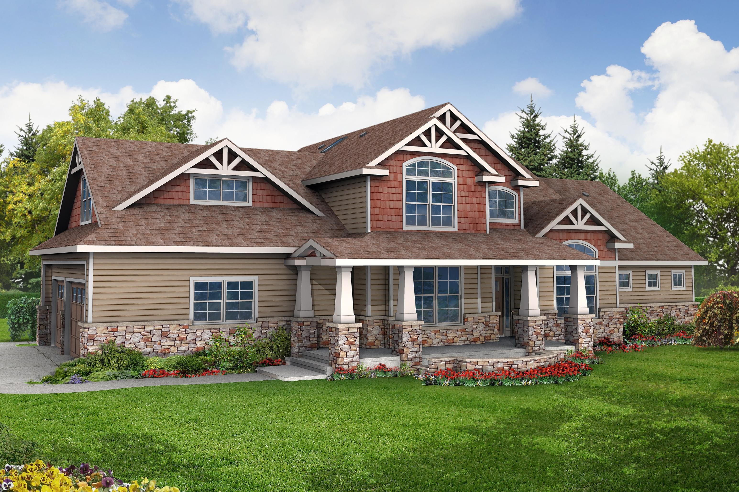 Ranch Floor Plans With Walkout Basement Craftsman House Plans Tillamook 30 519 Associated Designs