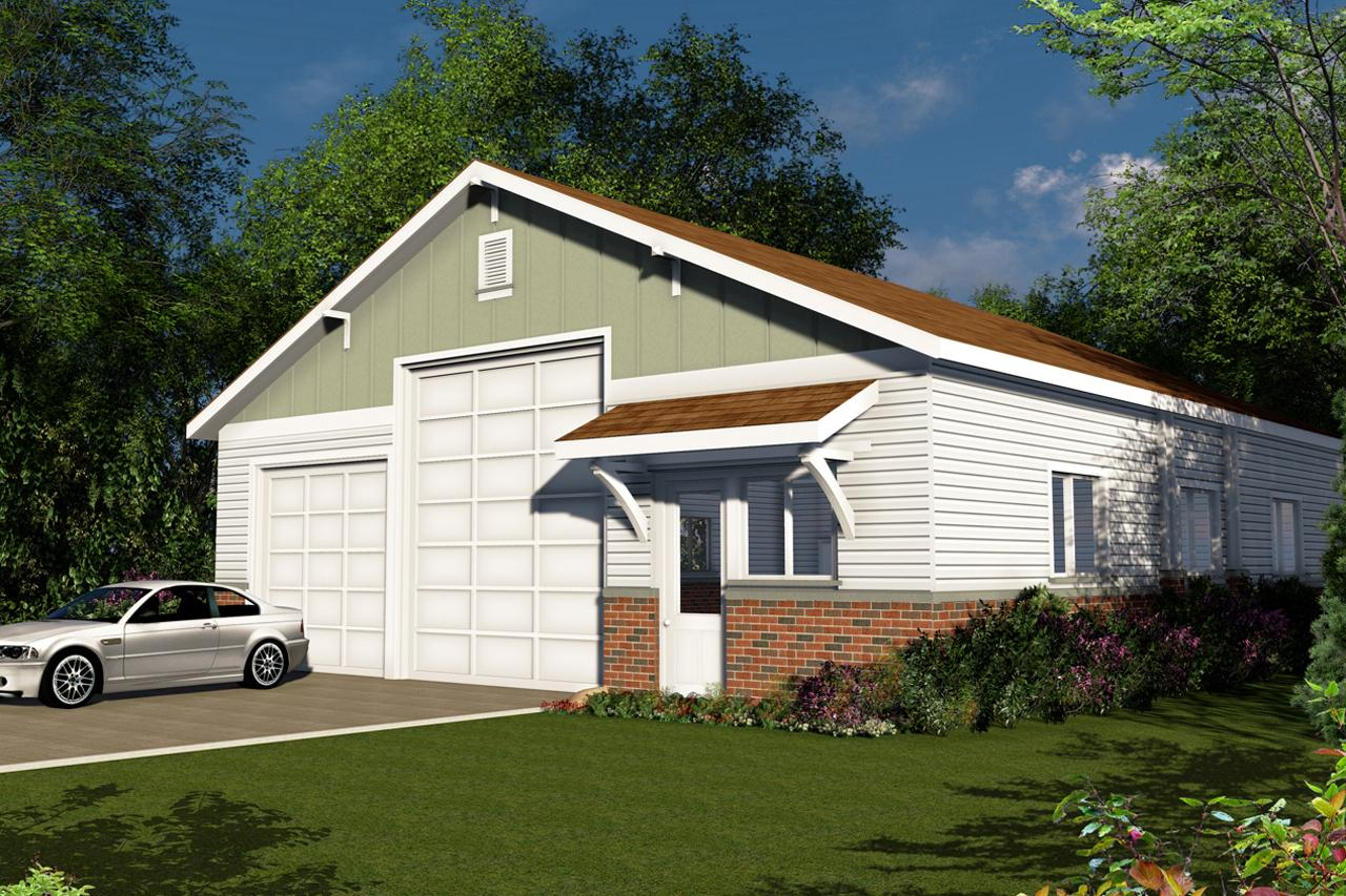 Images Of Front Elevation Of Small House : Traditional house plans rv garage associated