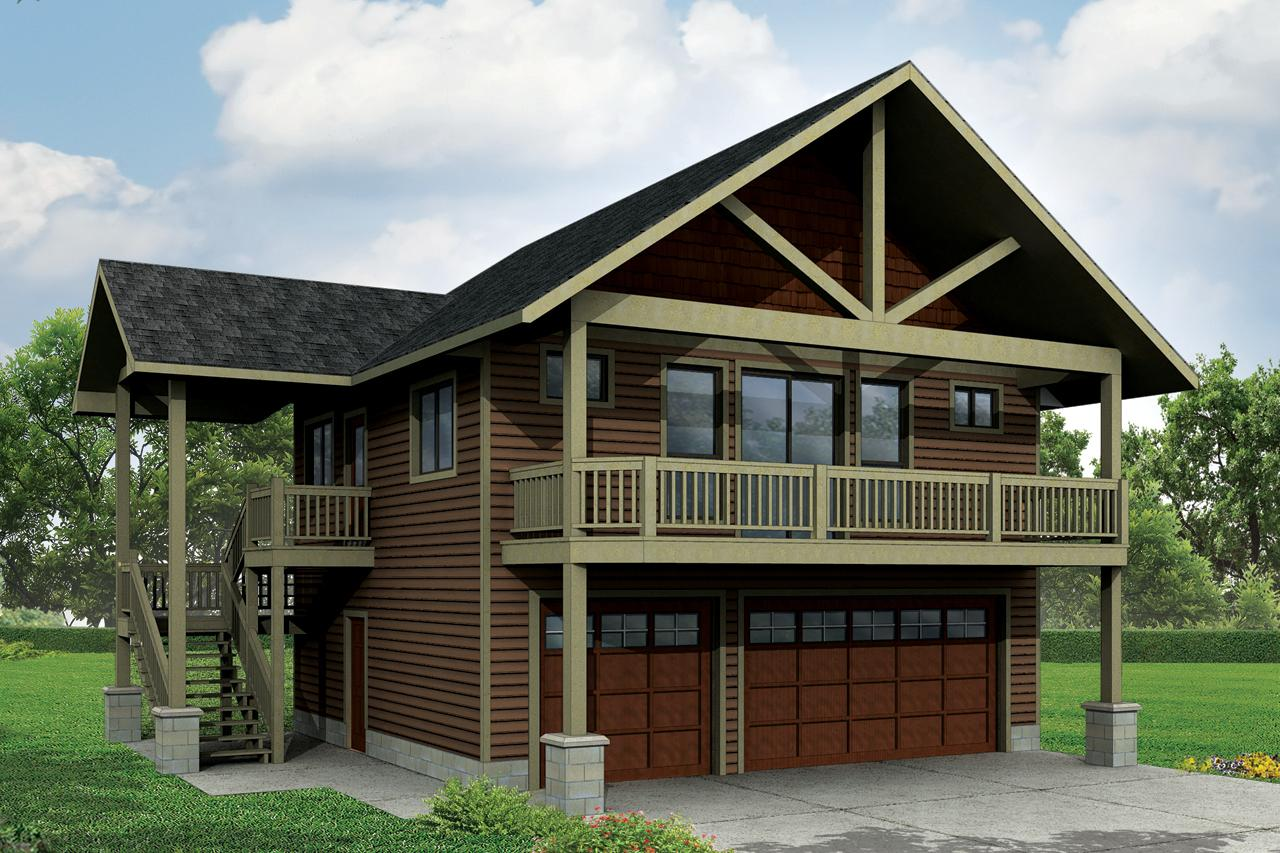 Building Front Elevation Staircase : Craftsman house plans garage w apartment