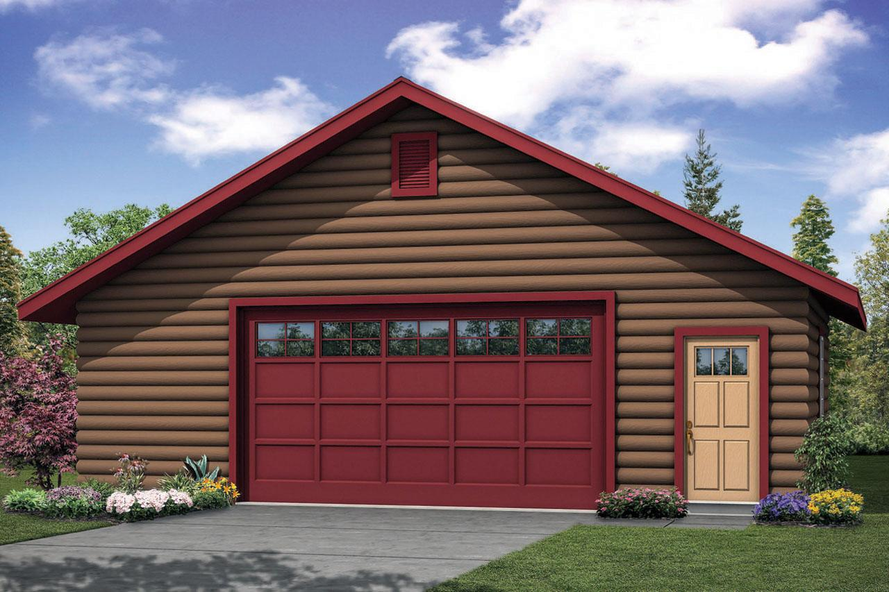 Front Elevation With Garage : Garage associated designs