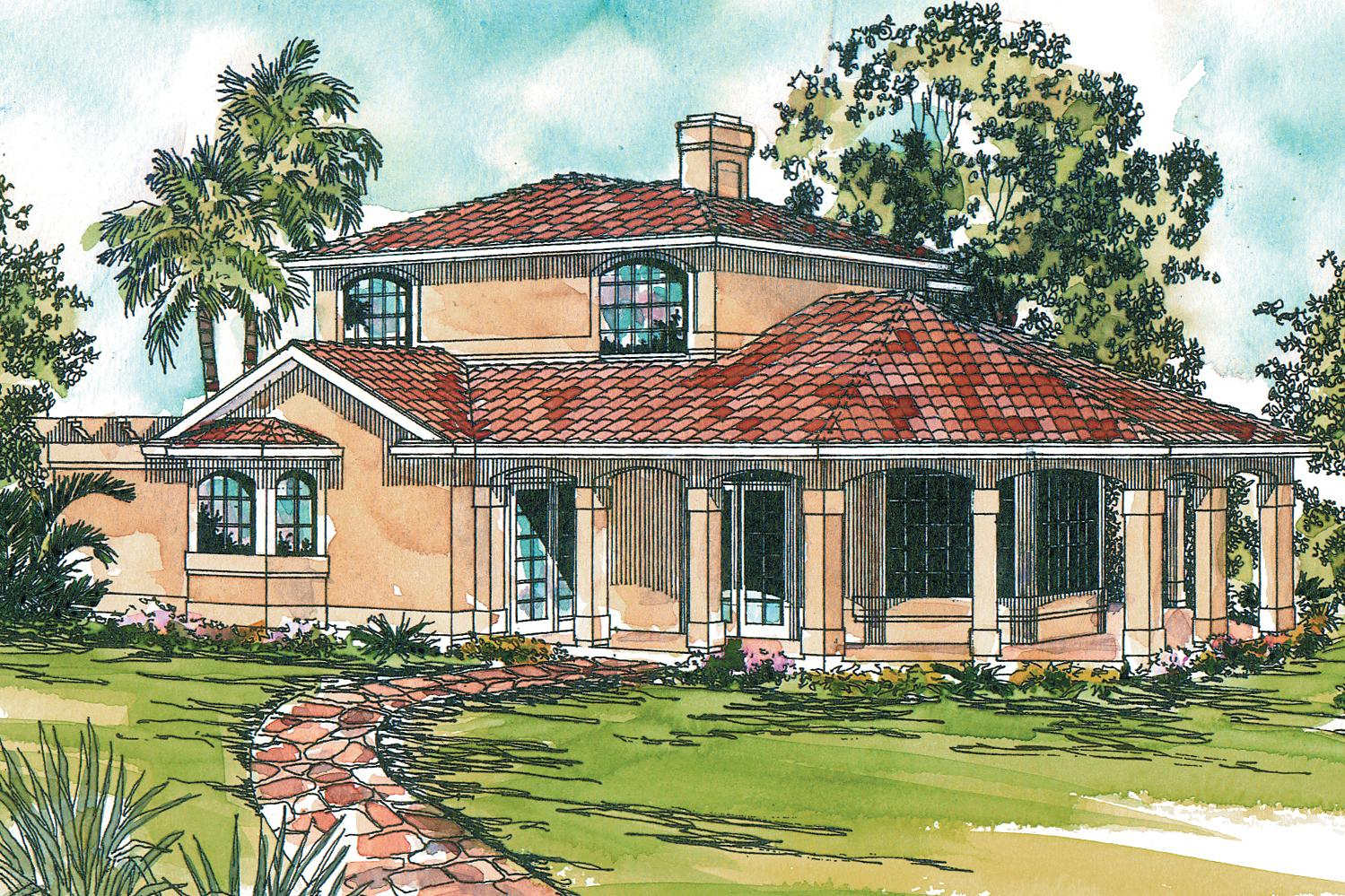 Mediterranean House Plans Lauderdale 11 037 Associated