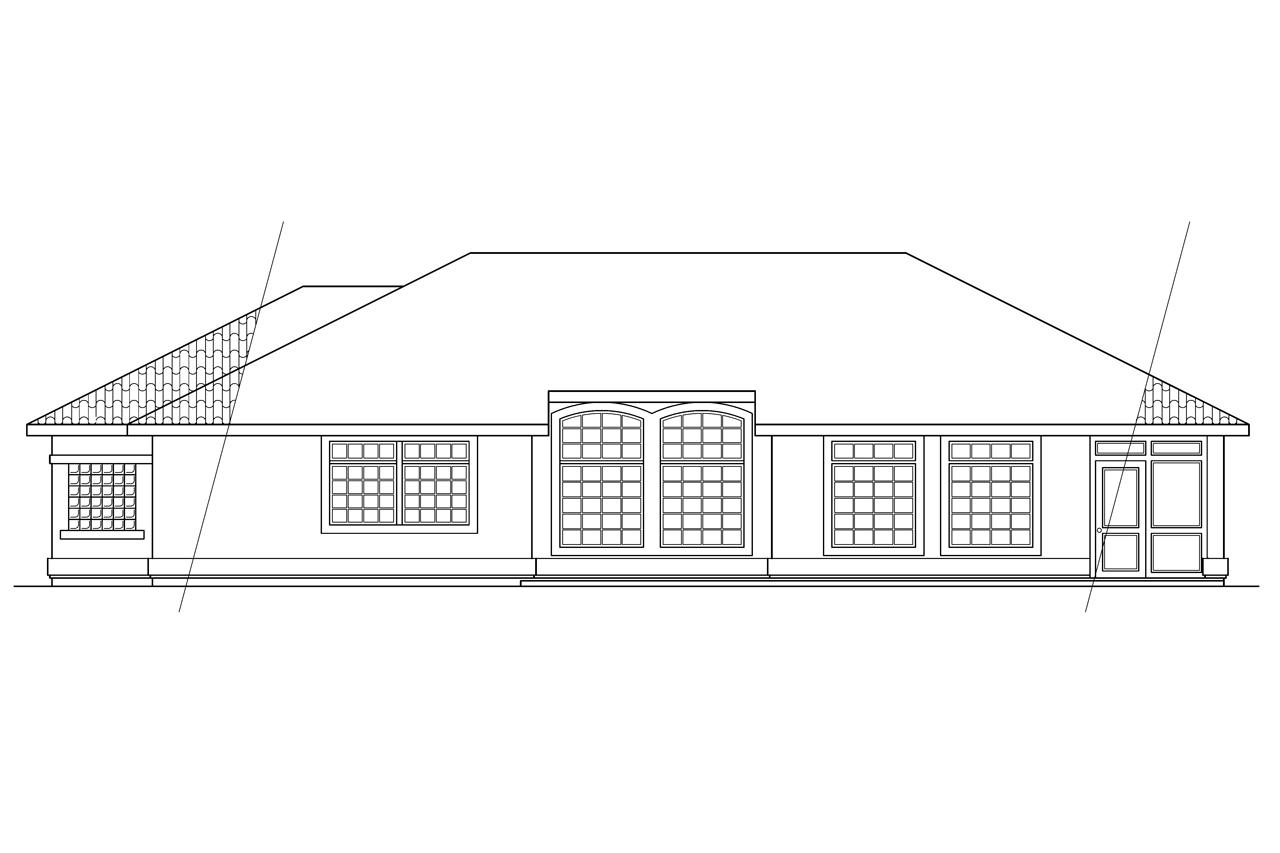 Rear Elevation Plan : Spanish style house plans richmond associated