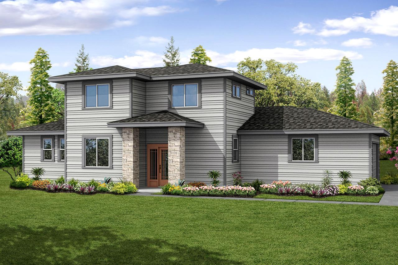 Floor Plan Of A 2 Story House Prairie Style House Plans Larkview 31 057 Associated