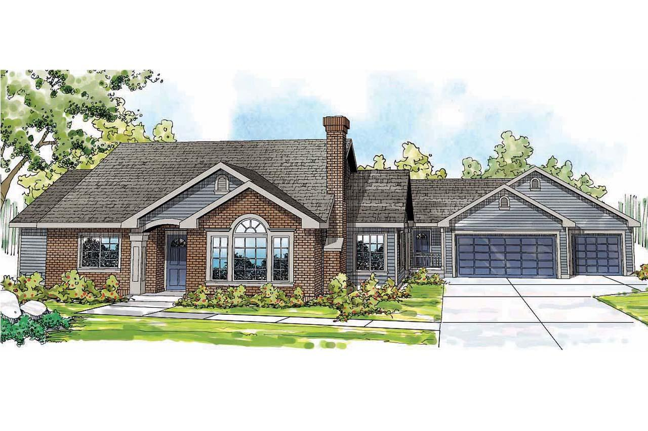Floor Plans For Large Families Ranch House Plans Ardella 30 785 Associated Designs