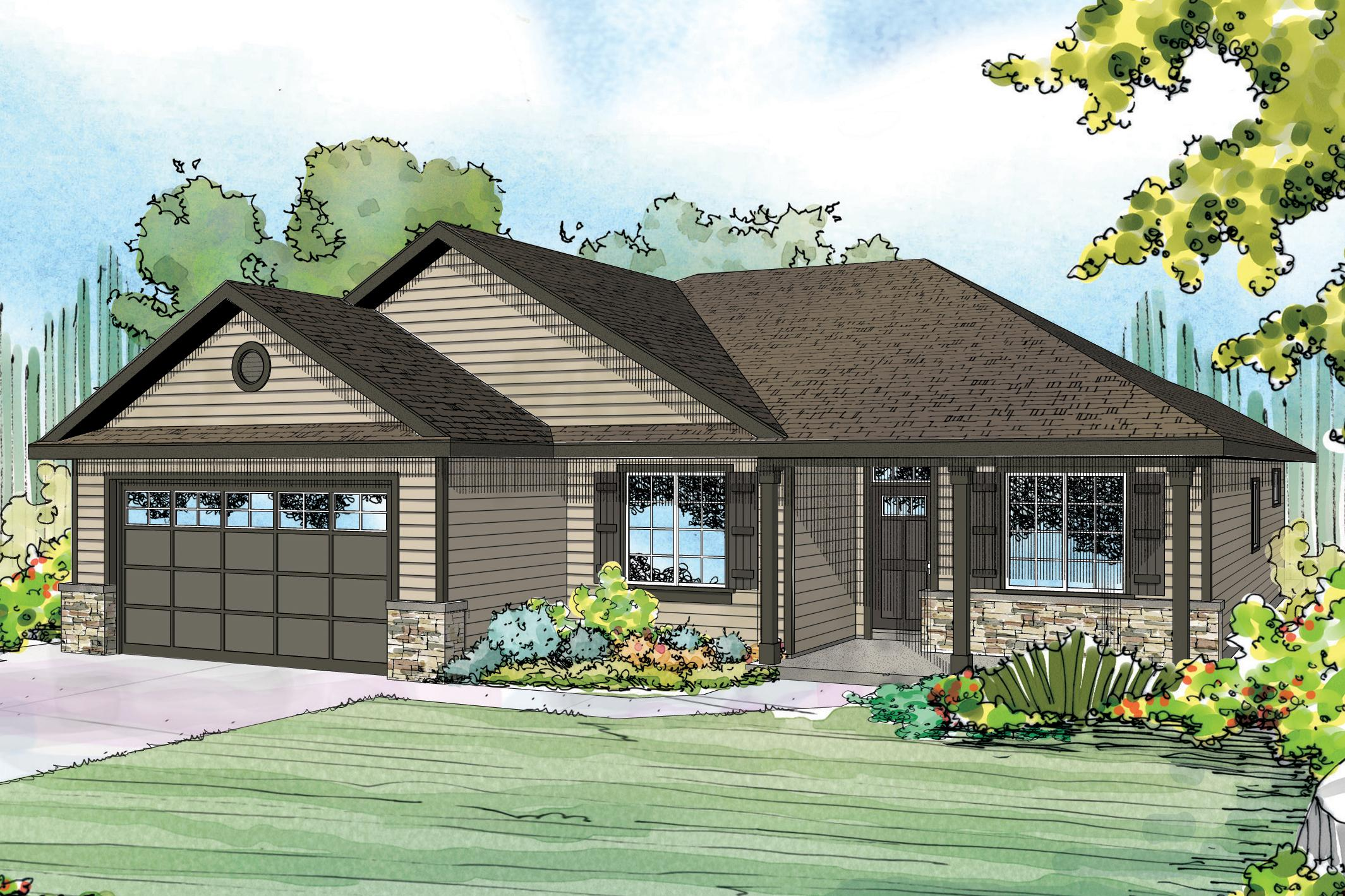 Floor Plan With Garage Ranch House Plans Eastford 30 925 Associated Designs