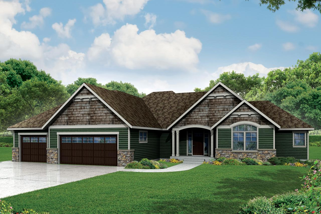 Garage Floor Plans >> Ranch House Plans - Little Creek 30-878 - Associated Designs