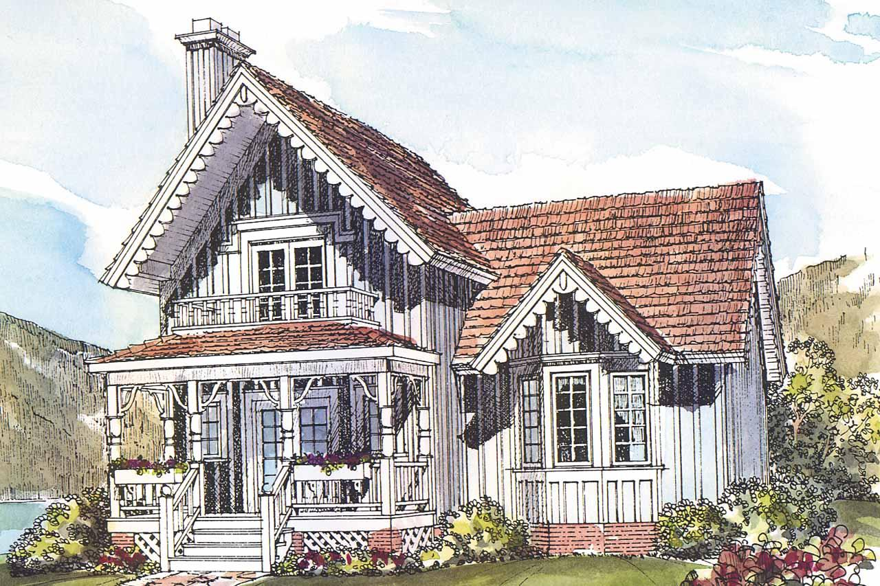 Front Elevation Of Victorian Houses : Victorian house plans pearson associated designs