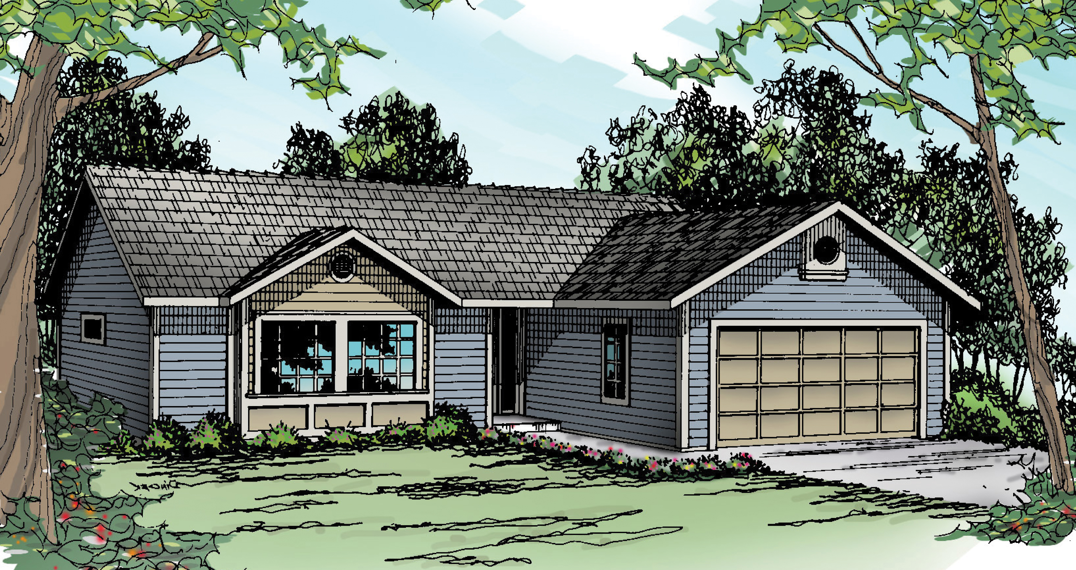 Halsey 30-847, Ranch Home Plan, Traditional House Plan