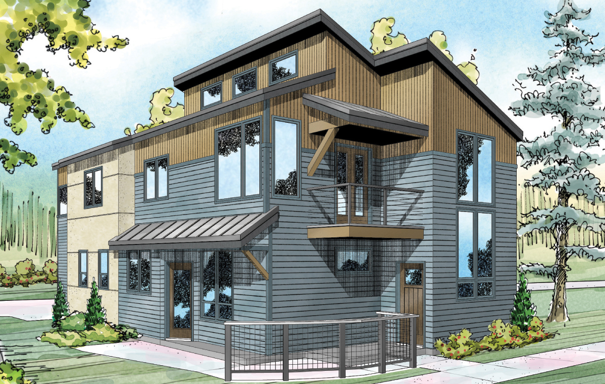 New house plan parkview 30 905 townhome plans - Latest building designs and plans ...