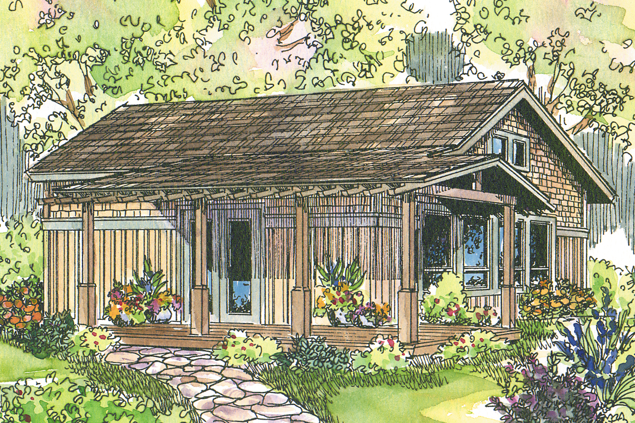 Featured House Plan of the Week, Bungalow Home Plan, Kent 30-498, Cabin Plan, Vacation House Plan