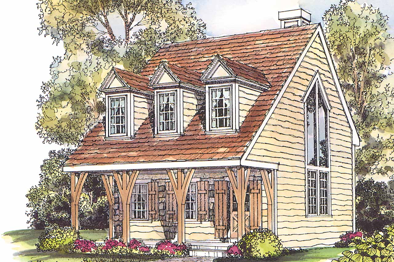 Cape Cod House Plan Langford 42 014 Front Elevation