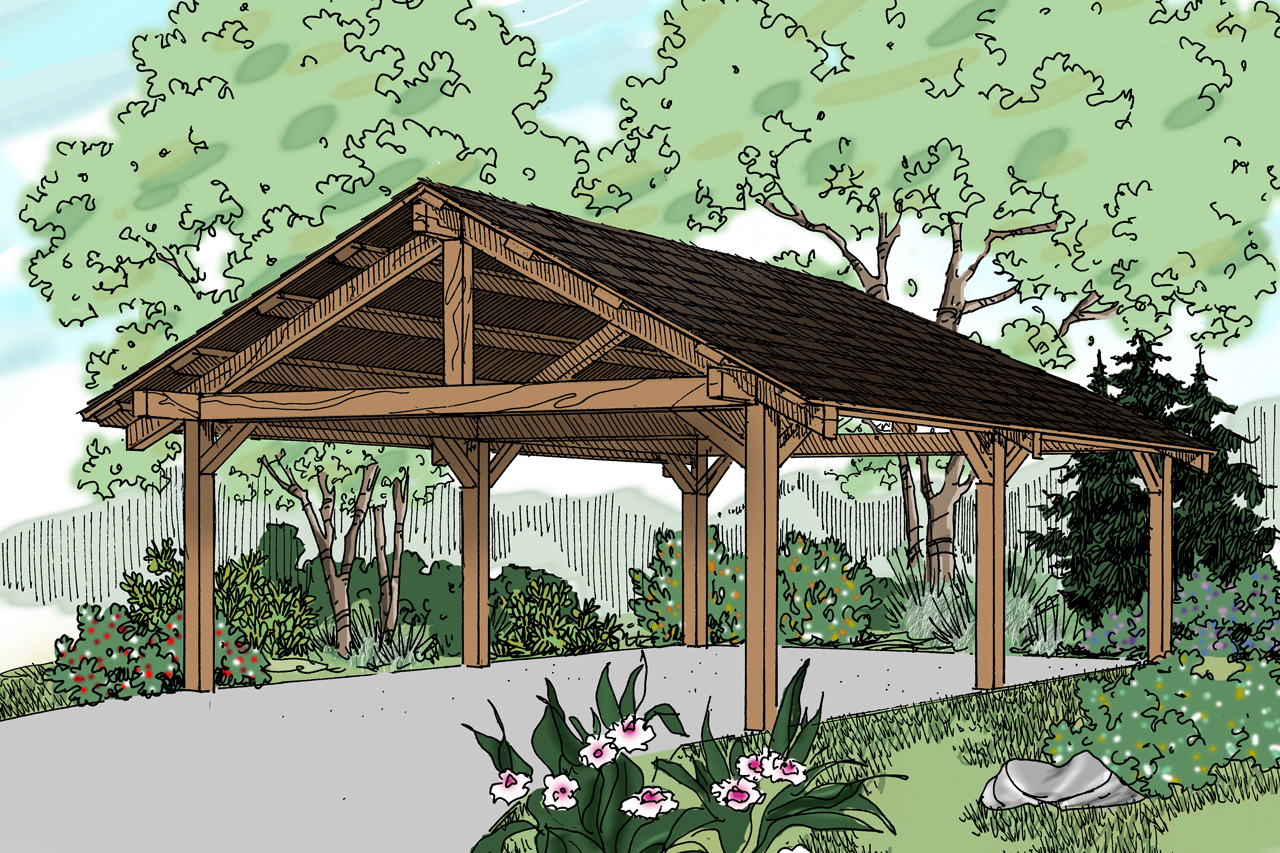 Traditional House Plans Carport 20 028 Associated Designs