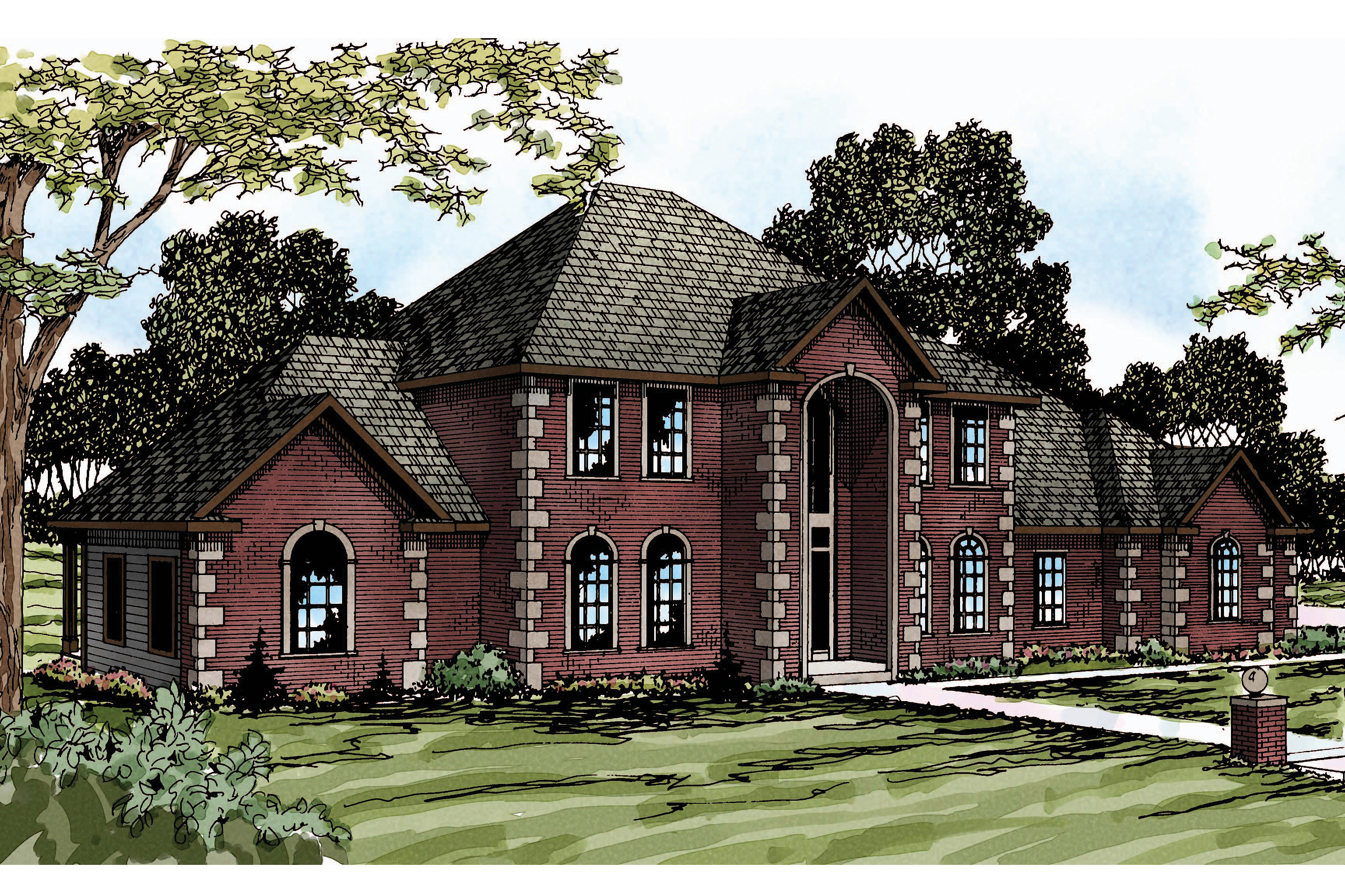 Classic House Plans - Kersley 30-041 - Associated Designs