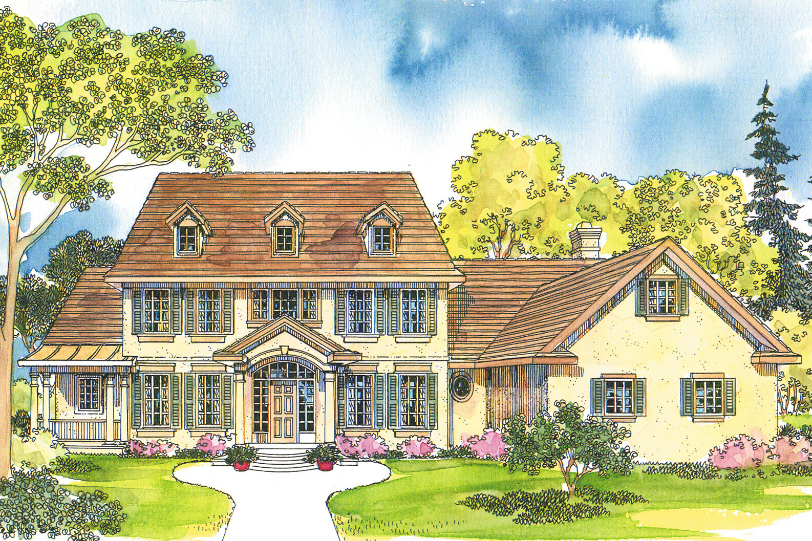 Colonial house plans colonial home plans colonial for House plan styles