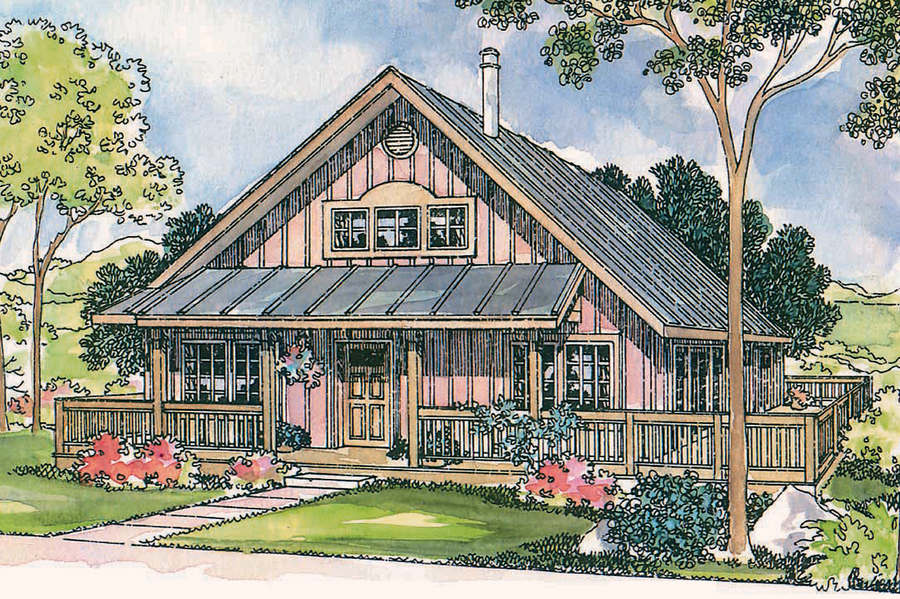 Front Elevation Cottage : Cottage house plans cordell associated designs
