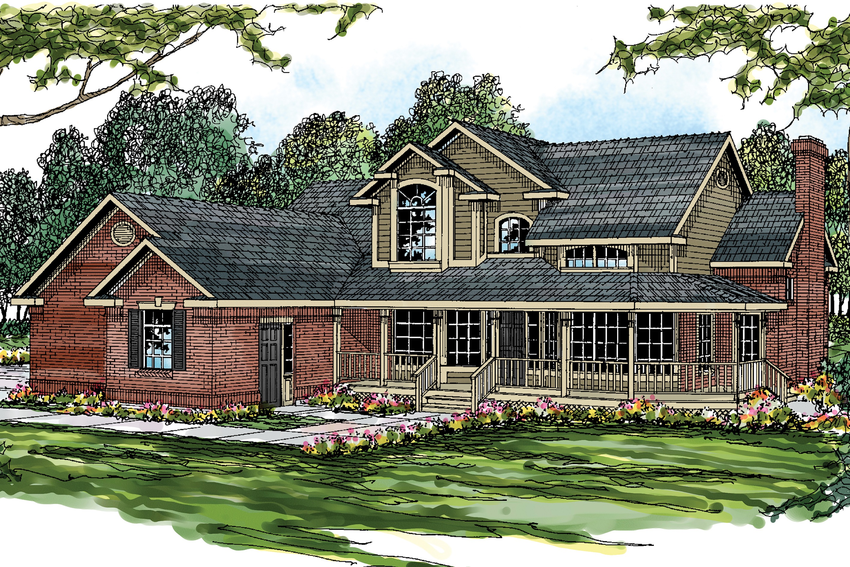 Featured House Plan of the Week, Country House Plan, Home Plan, Charleston 10-252