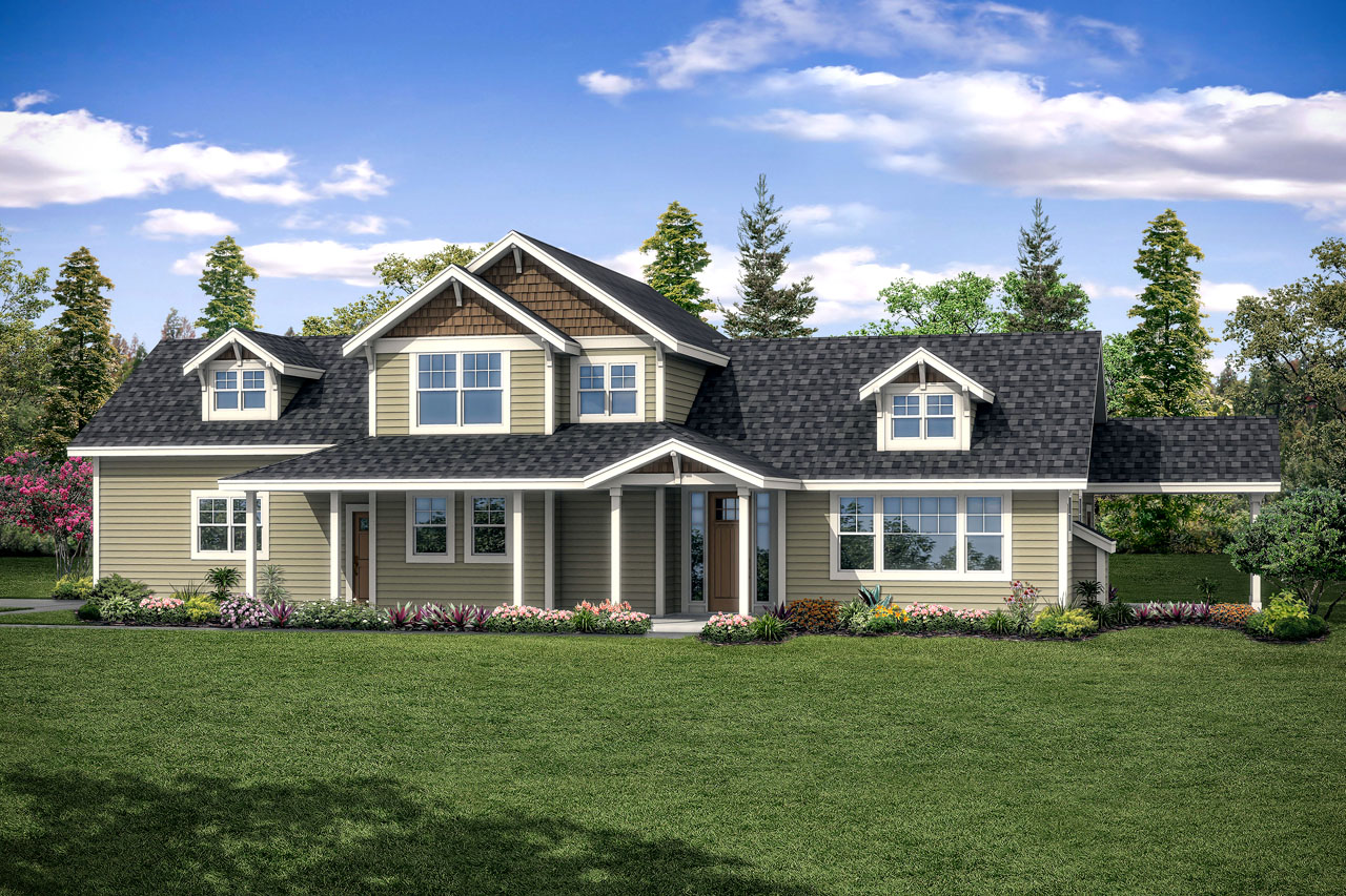 New House Plan, Country Home Plan, Fairhaven 31-077