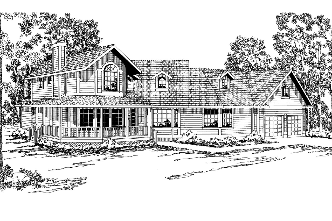 Country House Plans - Hayward 10-134