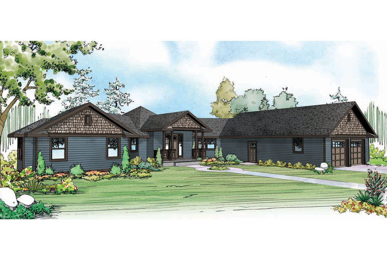 Country House Plan Mountain View Front