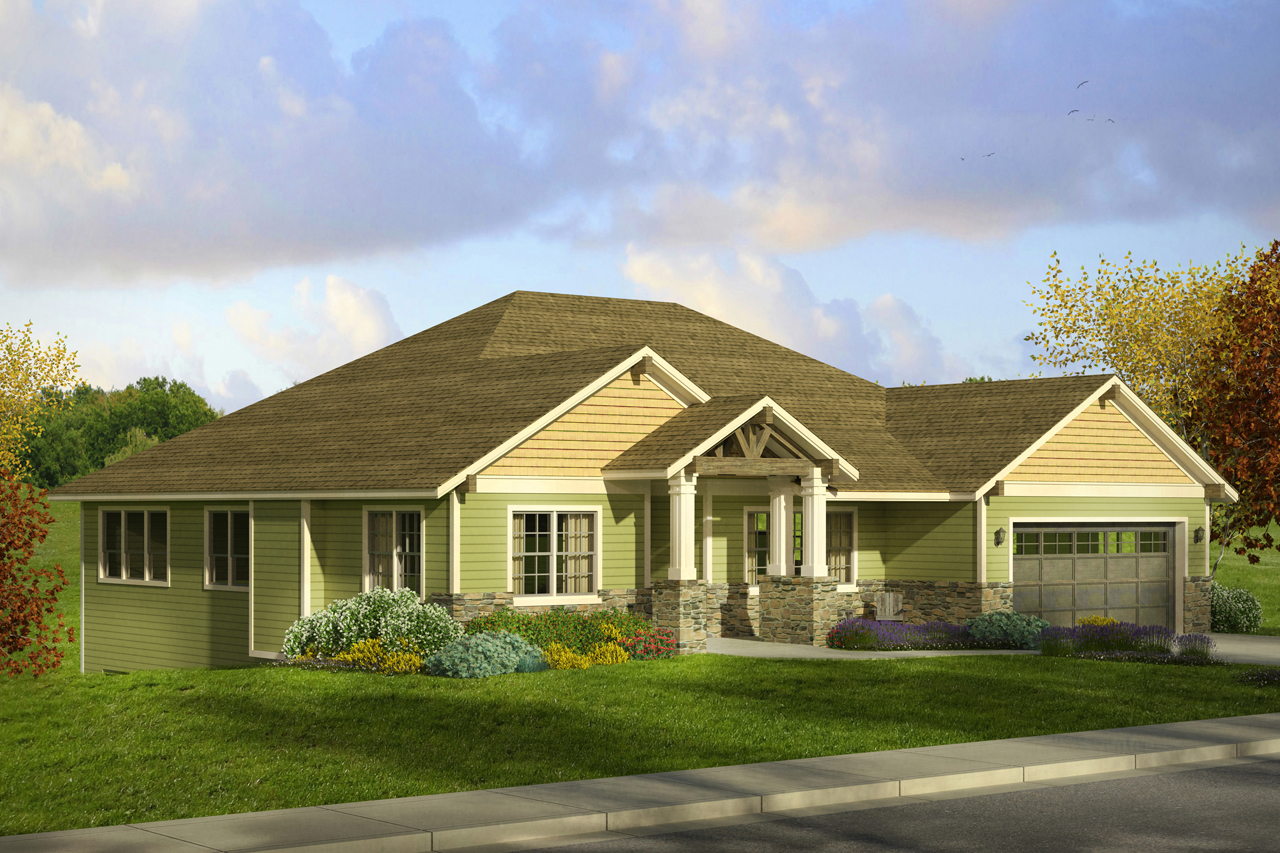 Craftsman House Plans Berkshire 30995 Associated Designs - Craftsman Bungalow With Loft 69655AM Architectural Designs House Plans