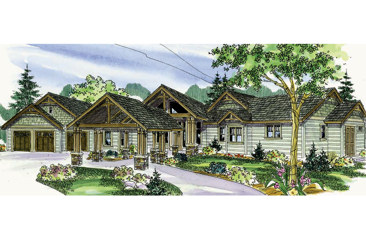 Garage Styles Craftsman House Plans Woodcliffe 30 715 Associated Designs