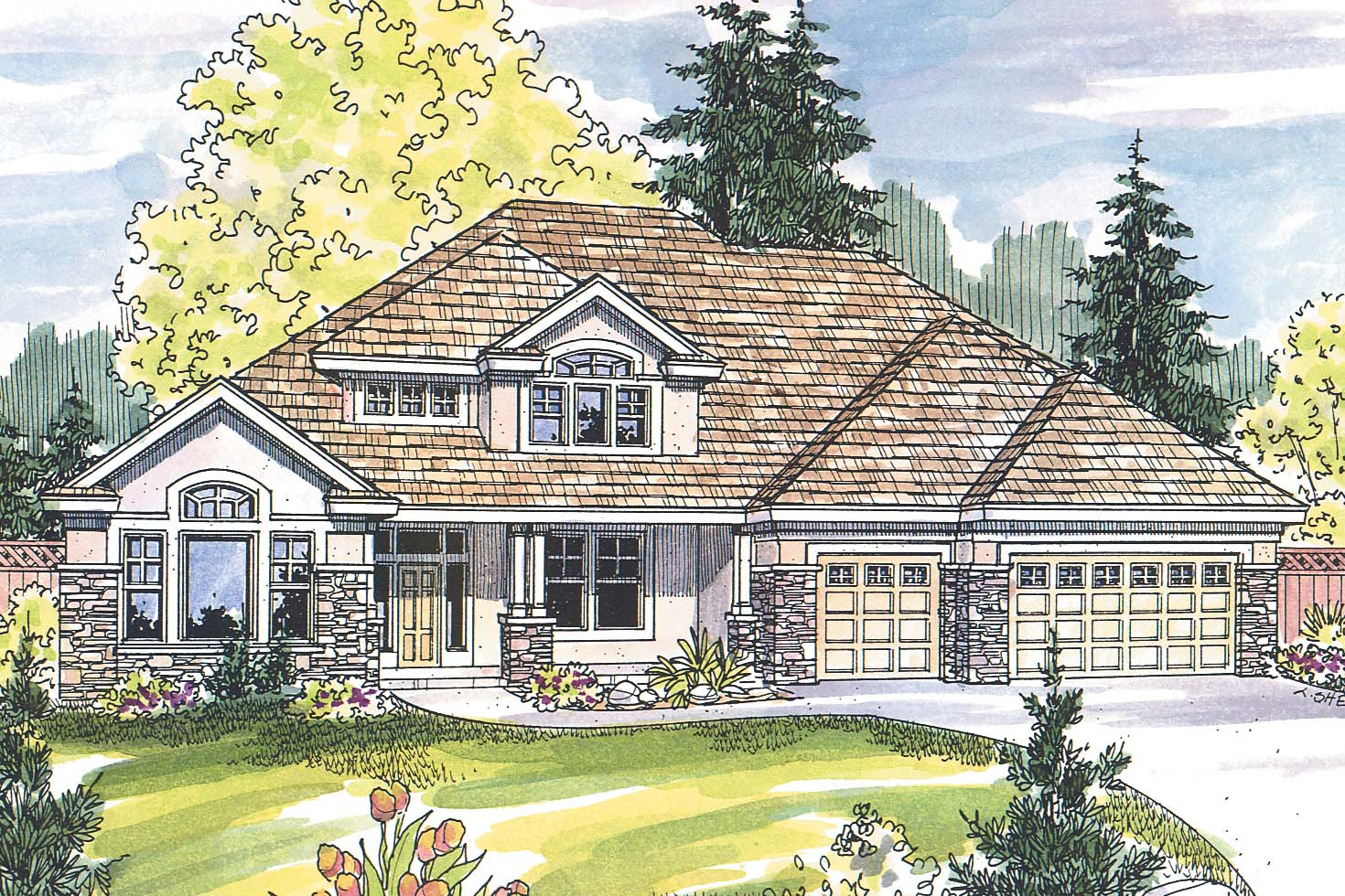 European House Plans Balentine 30 340 Associated Designs