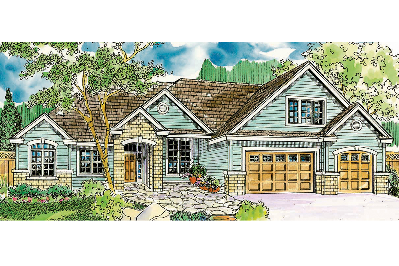 European House Plan - Landry 30-665 - Front Elevation
