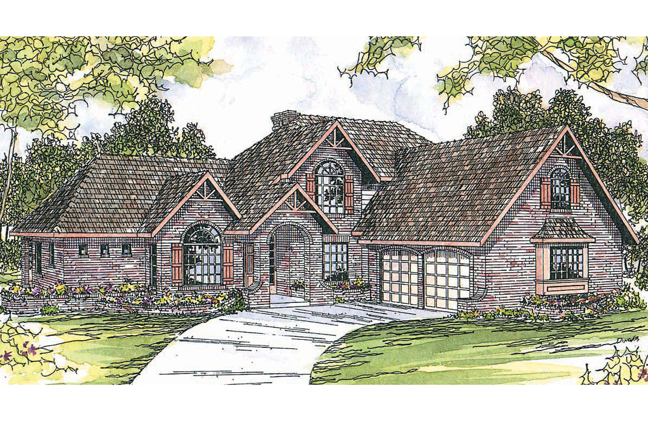 European House Plan - Marcellus 10-301 - Front Elevation