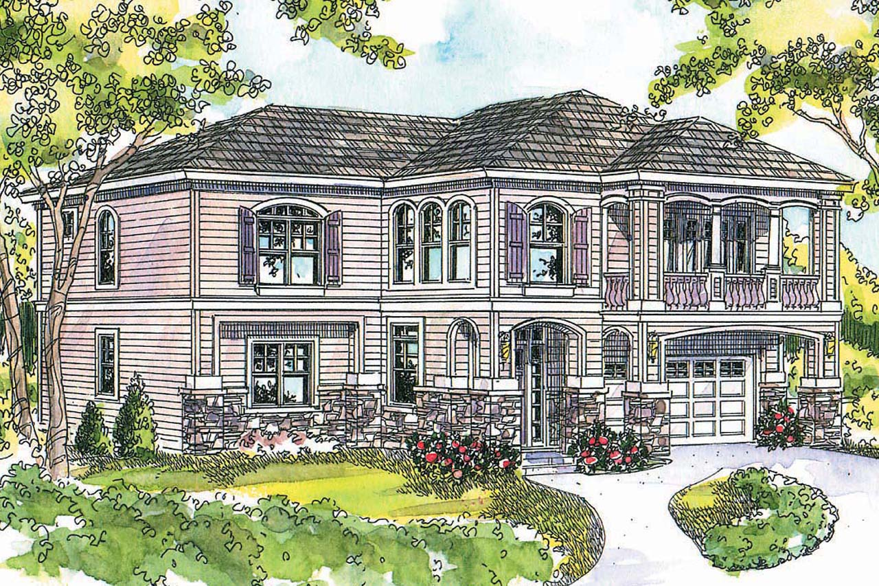 european house plan marianna 30 592 front - 41+ Small House Design In European  Images