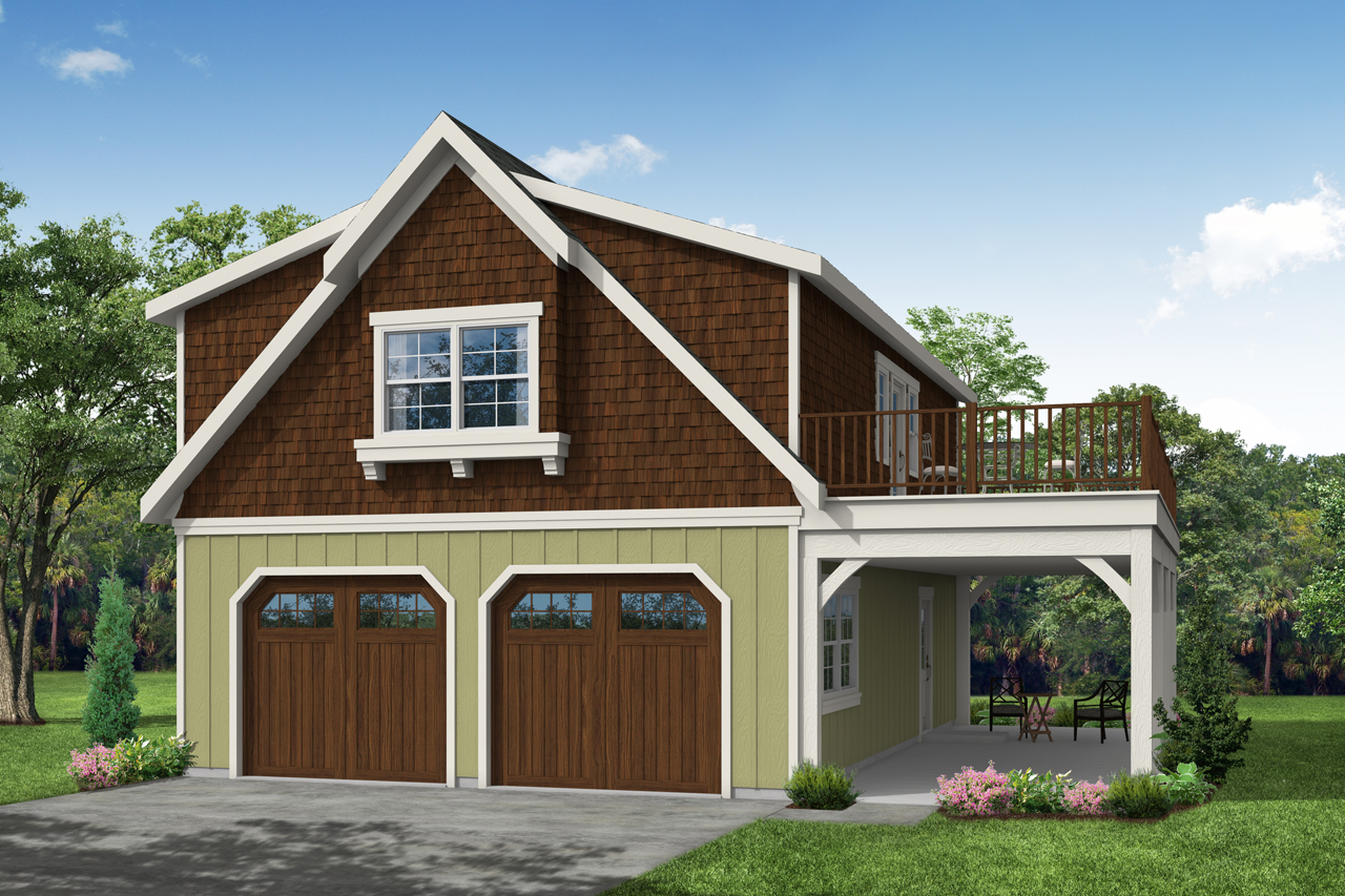 Garage Plan 20-061 - Front Elevation