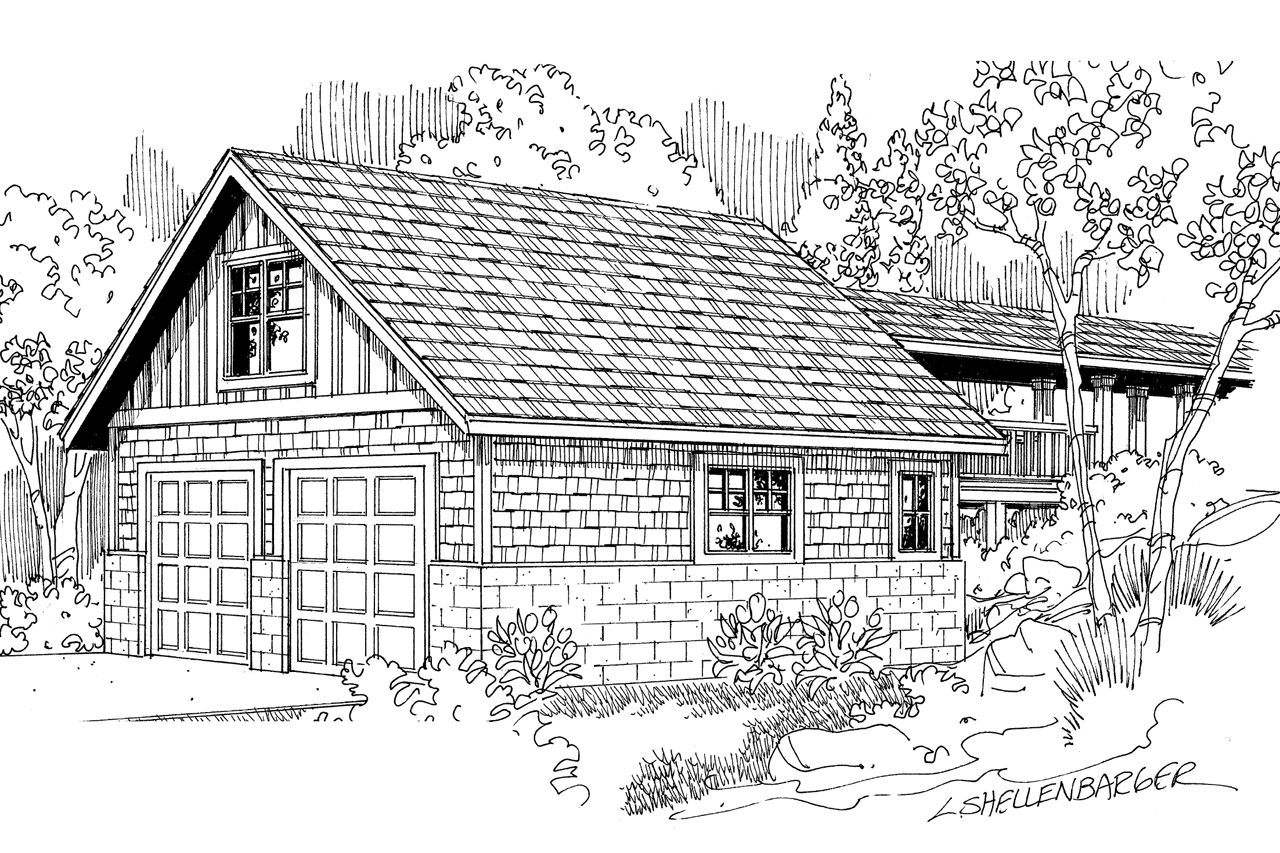 Country House Plans Garage W Storage 20 013 Associated