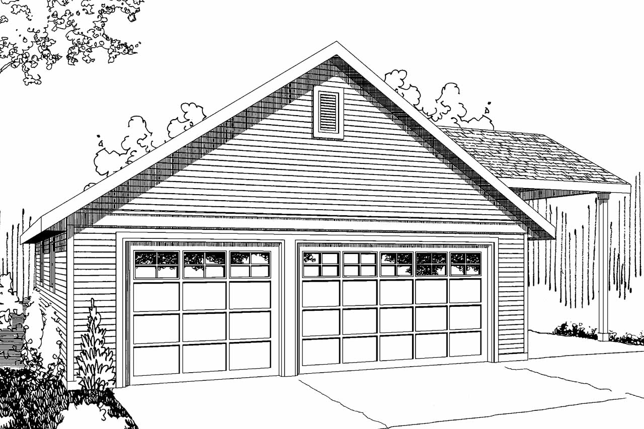 Elevation Rv Floor Plans : Traditional house plans garage w rv parking