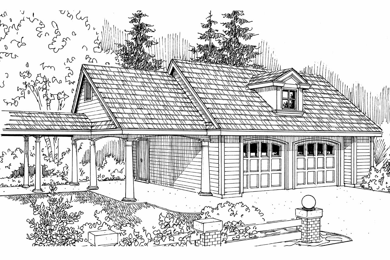 Country House Plans 2 Car Garage 20 075 Associated Designs