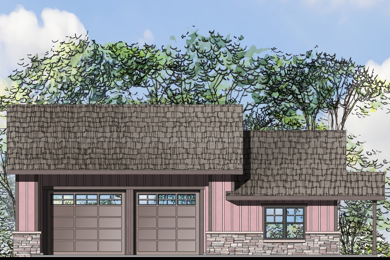 Craftsman house plans garage w living 20 076 - House plans and designs with photos ...