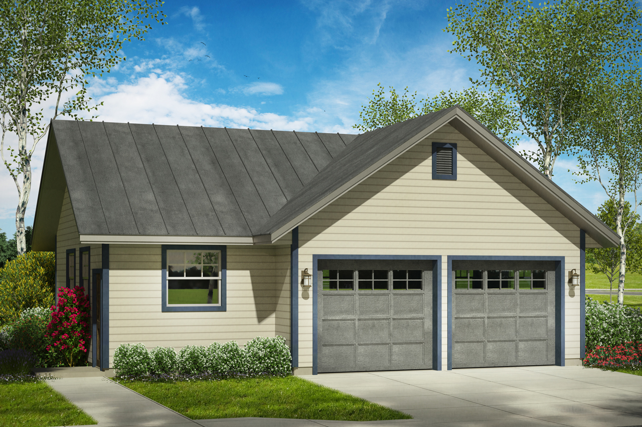 Floor Front Elevation Garage : Traditional house plans garage w shop