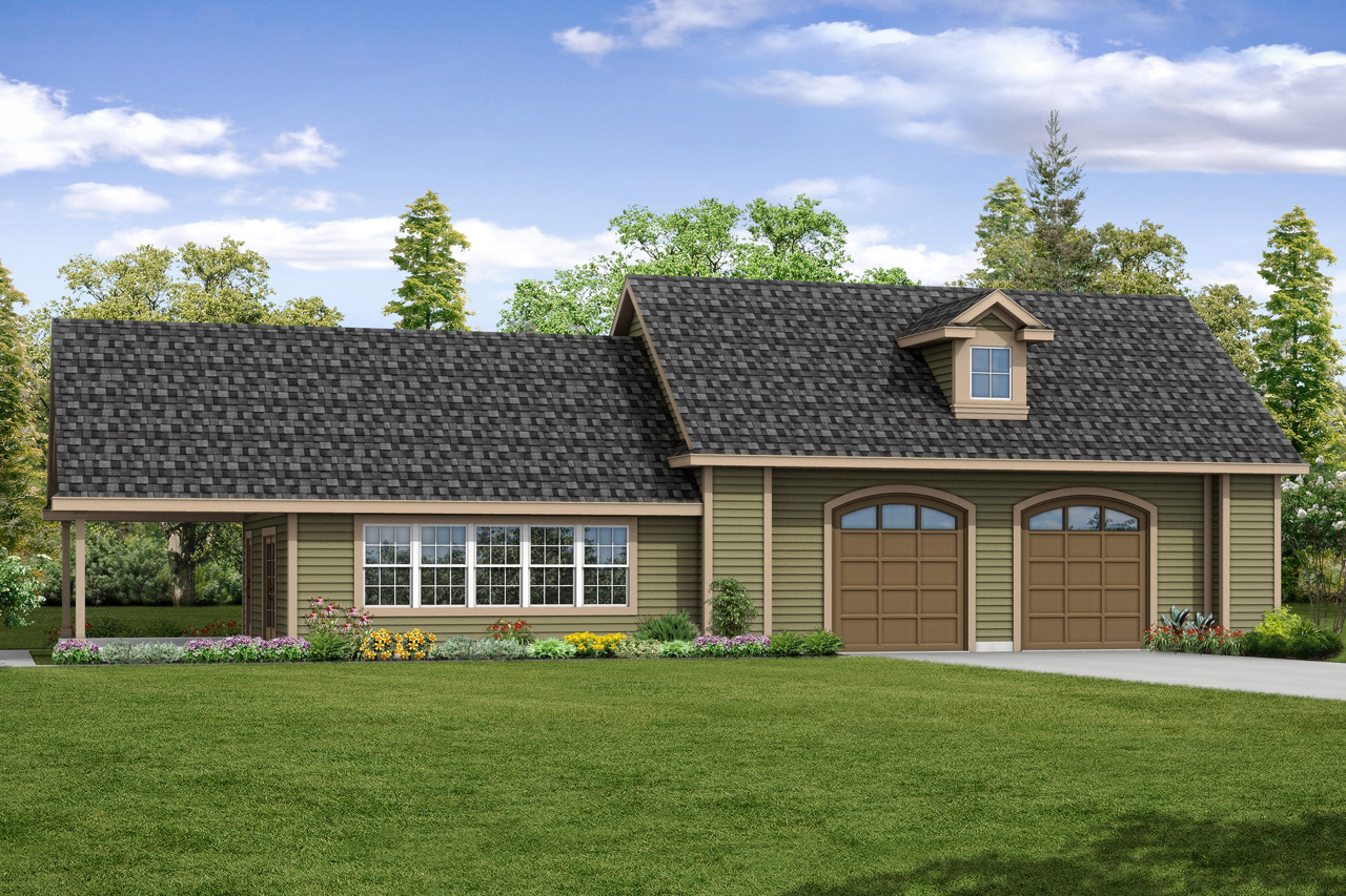 Traditional House Plans Garage W Rec Room 20 166