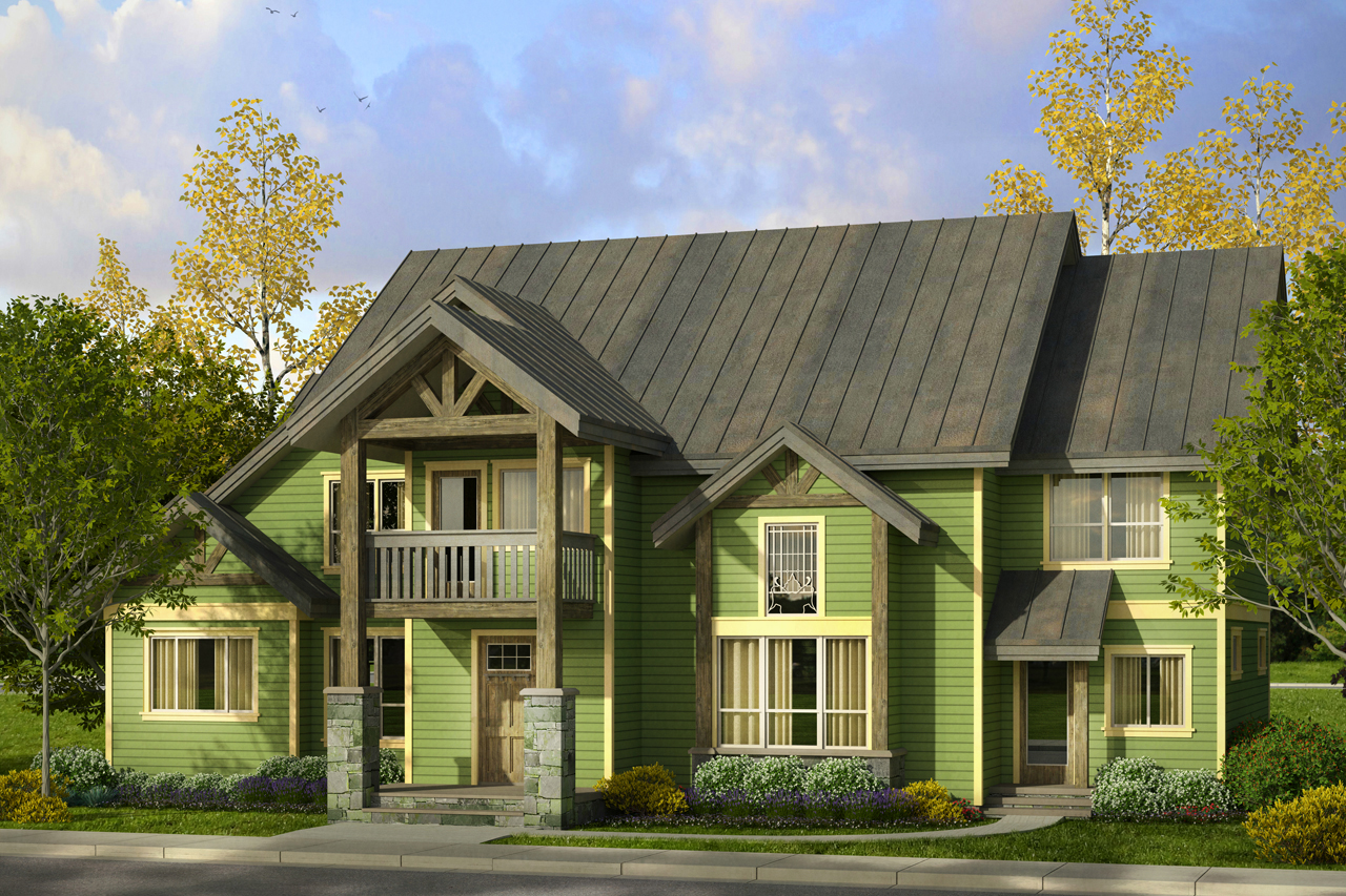 Lodge Style House Plan - Riverbank 30-999 - Front Elevation